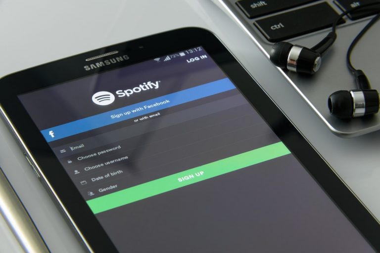 spotify playing on a phone