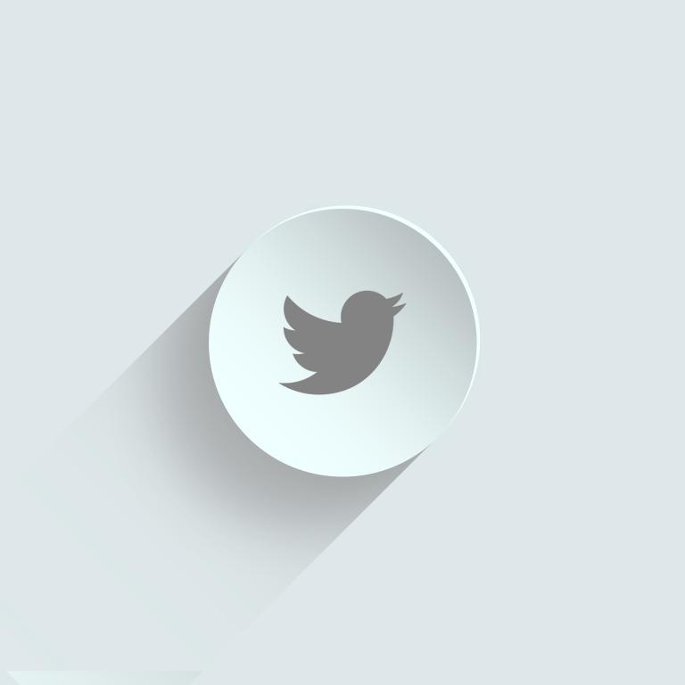 Twitter logo on mug