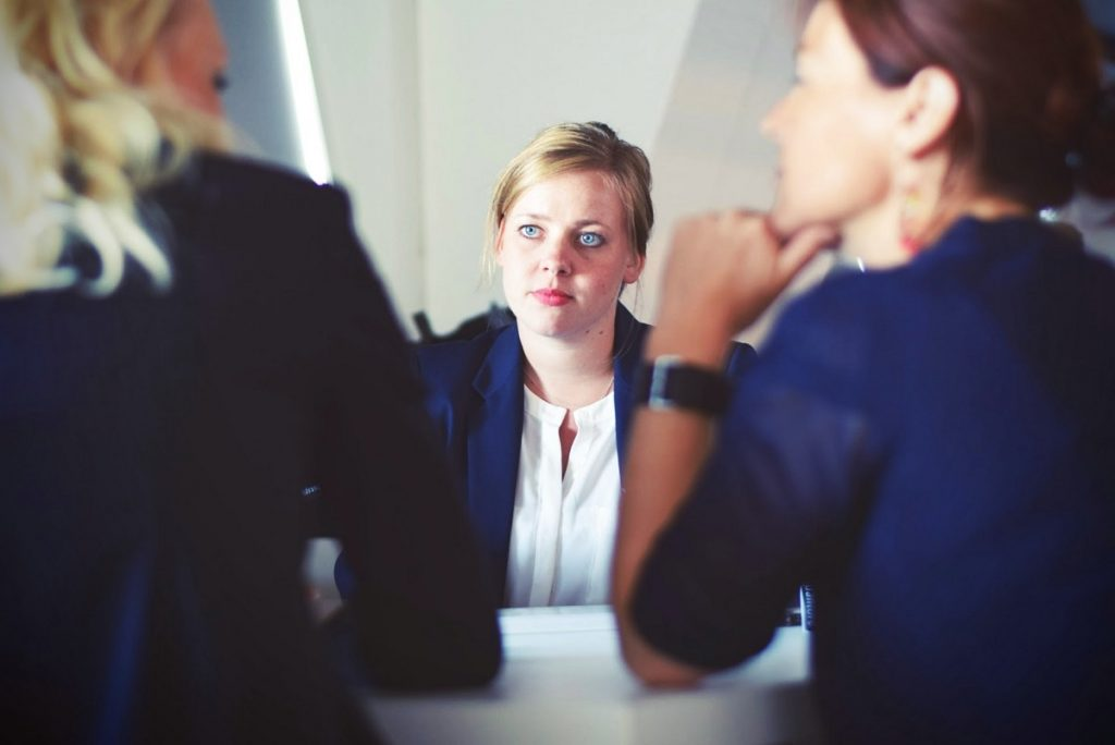 woman being interrogated