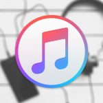 itunes logo on background