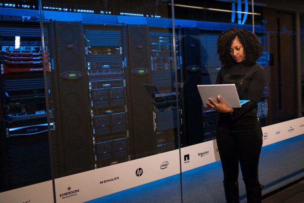 laptop server room